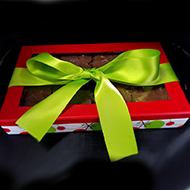 Brownie Box with Green Bow